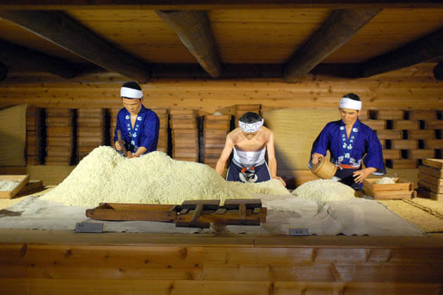 Sake Brewery in the Nada