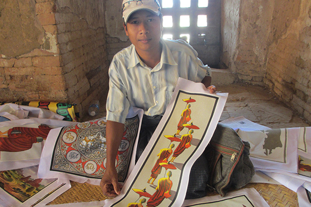 Gifts - Myanmar sand paintings