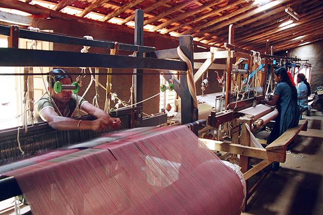 Handloom Weaving factory cochin