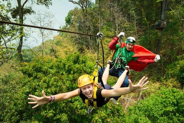 Gibbons-zip-line-Pattaya-shore-excursions