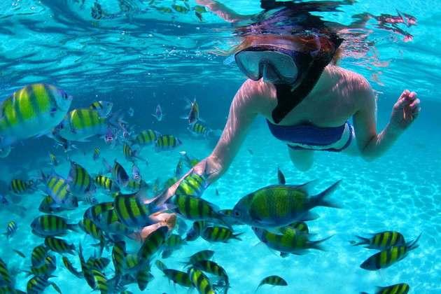 Koh Tan swimming