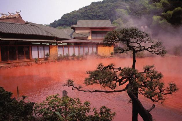 Bloody Red Hot Spring Hells Japan