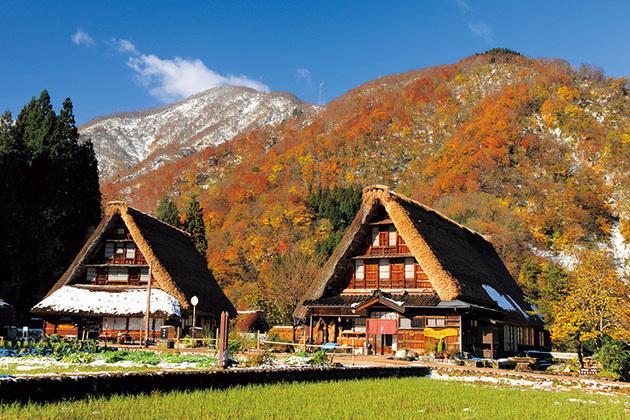 Historic Villages of Gokayama in autumn