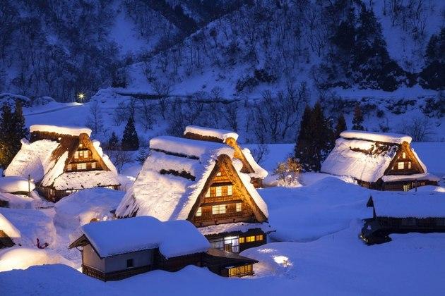 Historic Villages of Gokayama in winterma in winter
