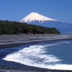 Miho no Matsubara beach with Mt Fuji view