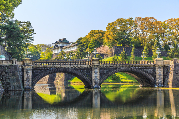 Tokyo Imperial Palace two bridges
