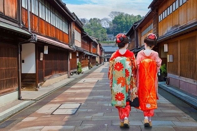geisha in Higashi Chayamachi Area - Toyama shore excursions