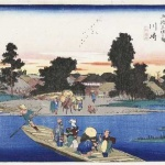 woodblock prints from the series Fifty-three Stations of the Tokaido Road