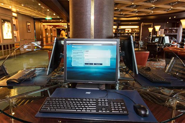 Access internet in cruise ship