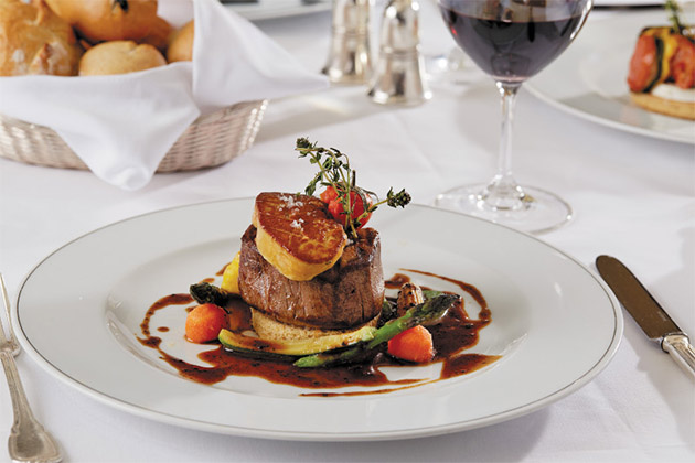 Beef steak in cruise ships