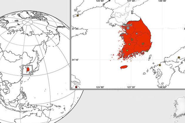 Korea blank map