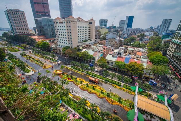 Nguyen Hue Street in Ho Chi Minh city