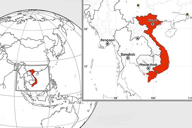 Vietnam blank map