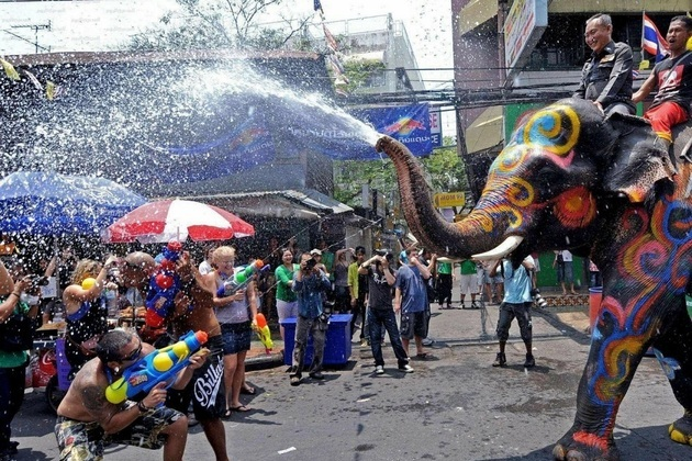 Water Festival Songkran in Thailand
