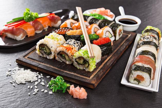 sushi in cruise ships