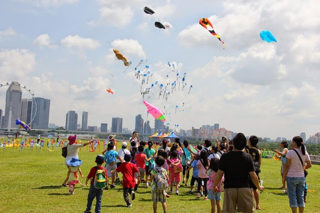 Fly Kite at Marina Barrage
