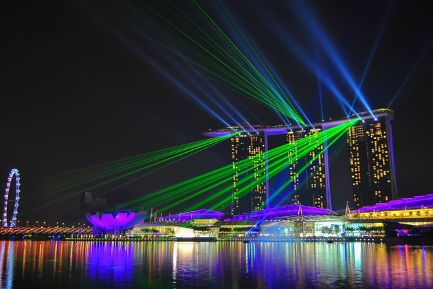Lights Show at Marina Bay