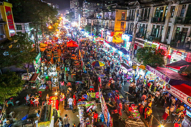 China Town in Yangon shore excursions