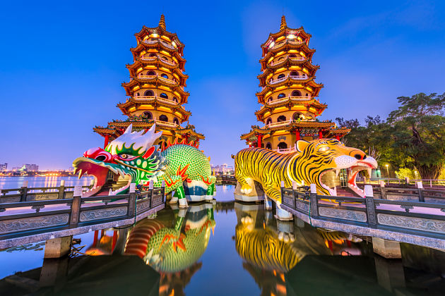Dragon and Tiger Pagodas - Kaohsiung shore excursions