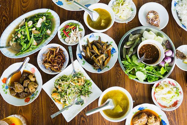 Food in Myanmar shore excursions