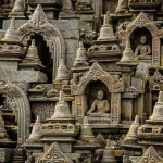 Borobudur Temple with statues