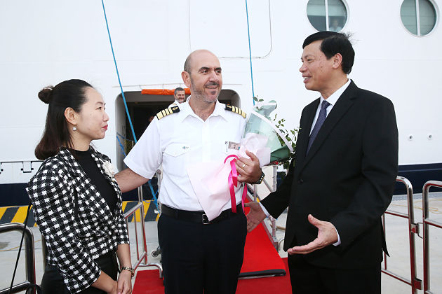 Welcome the First Cruise Ship at Ha Long International Passenger Port