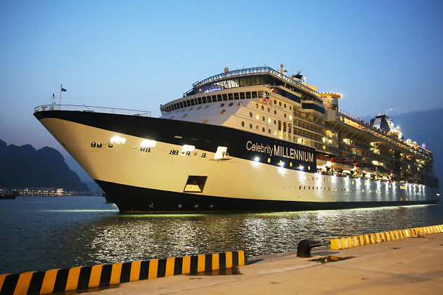 Celebrity Millennium docks at Halong International Passenger Port