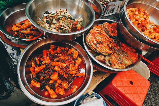 Cuisine in Seoul shore excursions