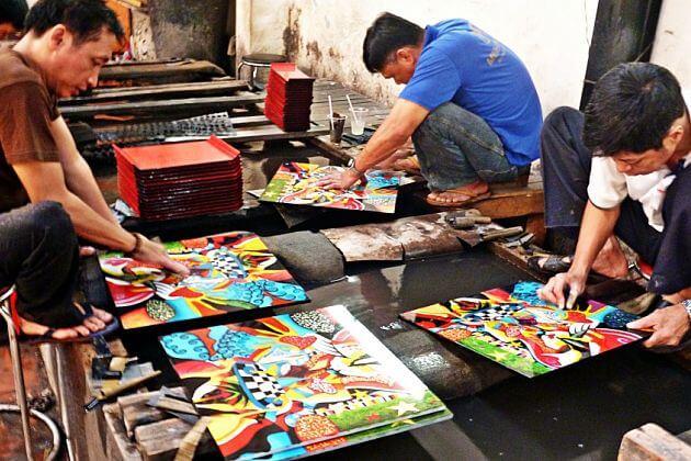 Minh Phuong lacquerware workshop