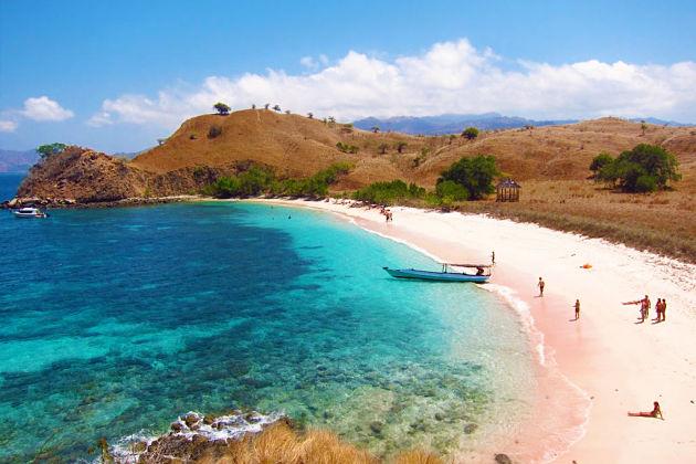 Pink Beach at Komodo Island