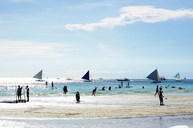 Boracay shore excursions in wet season