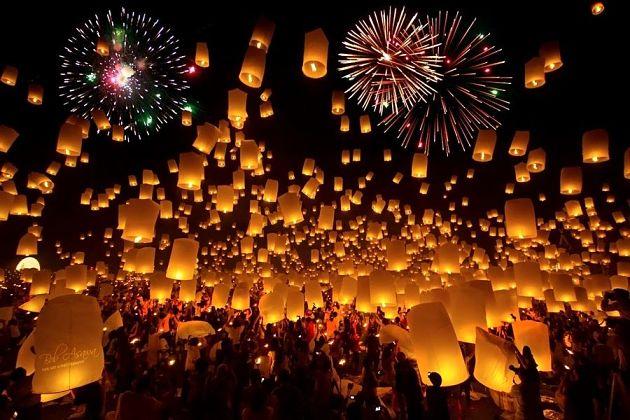 Pingxi Sky Lantern Festival in Taipei, Taiwan