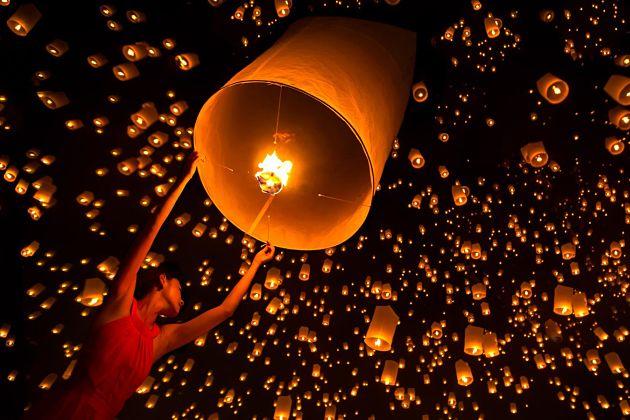 Pingxi sky lantern festival in Taipei