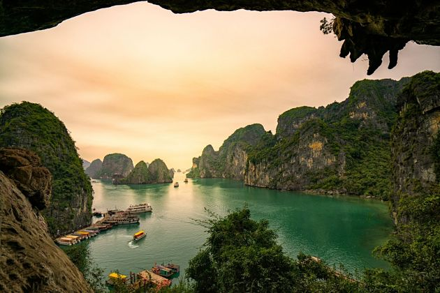 weather in Halong bay shore excursions