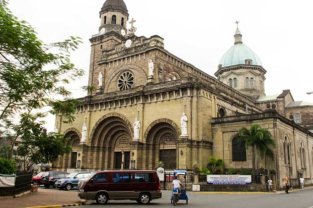 Manila Cathedral in manila shore excursions