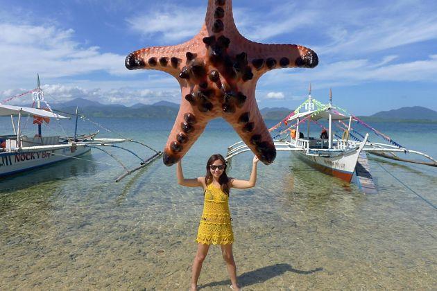 Starfish Island - Palawan shore excursions to Honda Bay