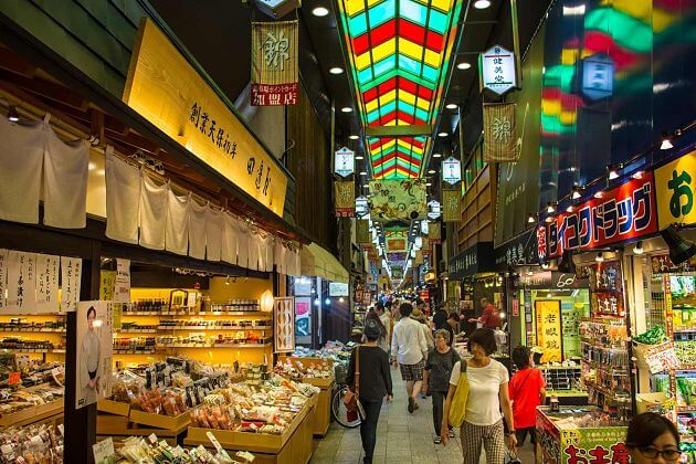 Nishiki-Fishing-Market-Kyoto-shore-excursions